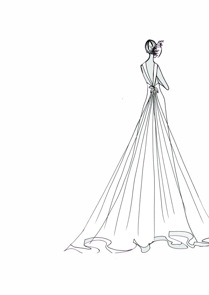 back long dress WHITE background
